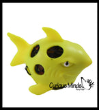 Shark Squishy Water Bead Stress Ball - Mesh  Fun Fidget - Blob Webby Mesh Ball - Squishy Fidget Ball