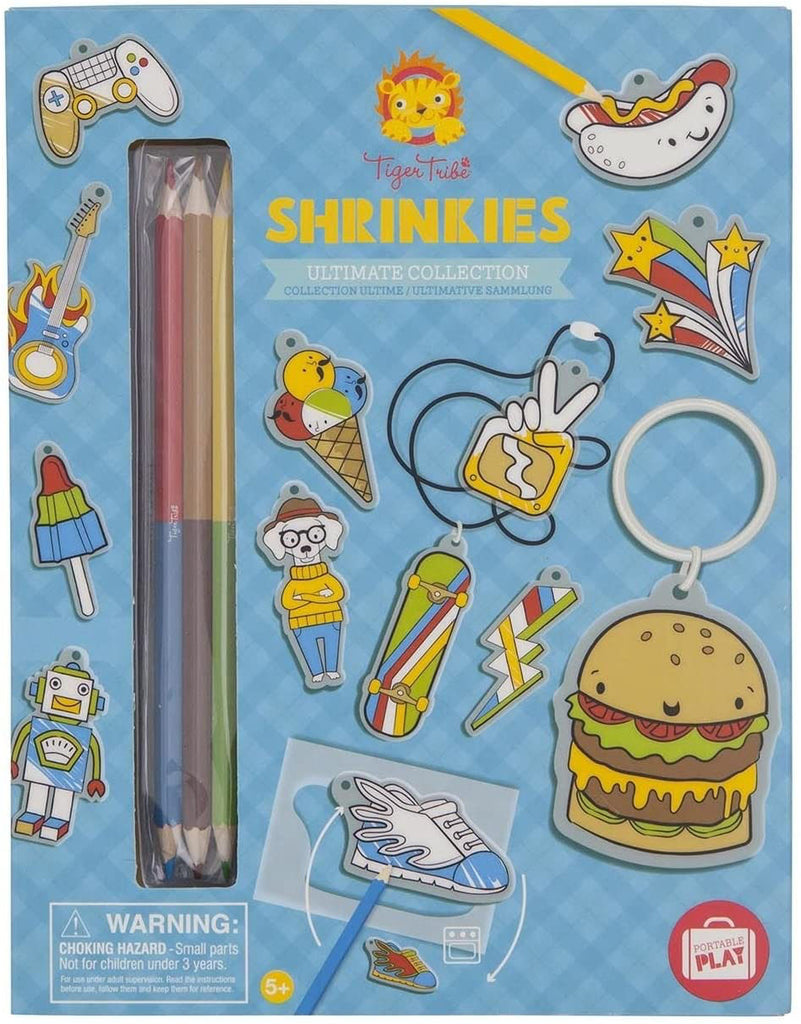 Shrinkies Kit - Color and Bake to Shrink - Make Jewelry and Keyrings - Fun Classic Craft Toy