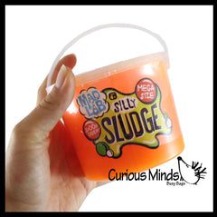 1 Pound Jumbo Bucket of Slime -  Stretchy, Gooey, Drippy Slime - Putty - Goo - Silly Sludge Mad Lab Mega Neon