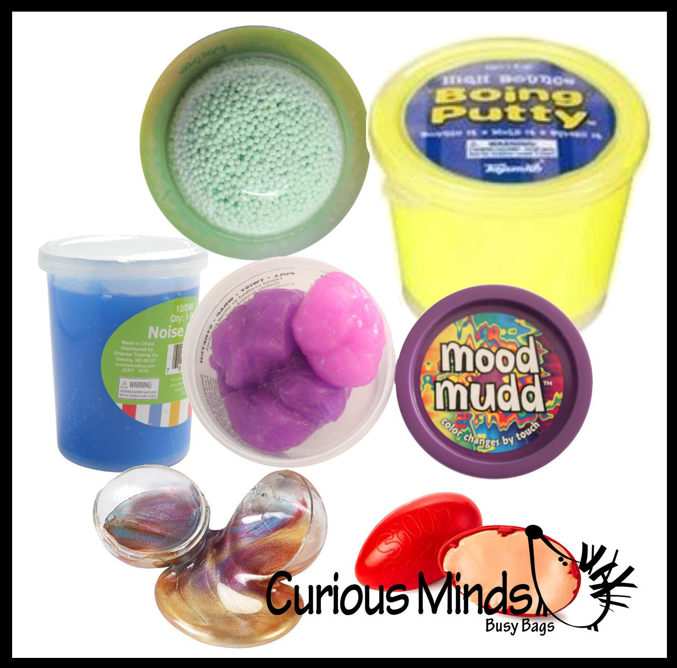 Slime Sampler Bundle #1 - Try out 6 different slimes and putties