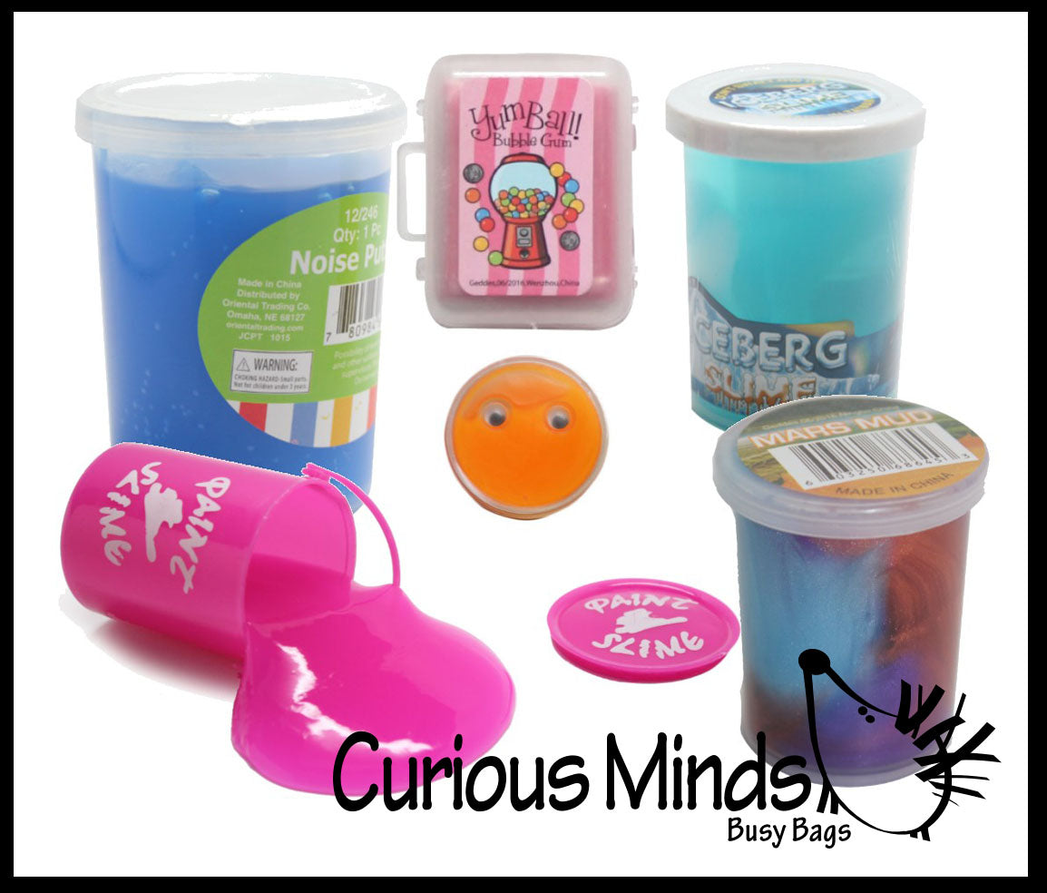 CLEARANCE - SALE - Slime Sampler Bundle #3 - Try out 6 different slimes and putties
