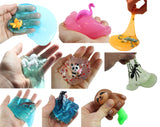 9 Animal Themed Figurines in Slime - Sampler Bundle  Try out 9 different slimes and putties