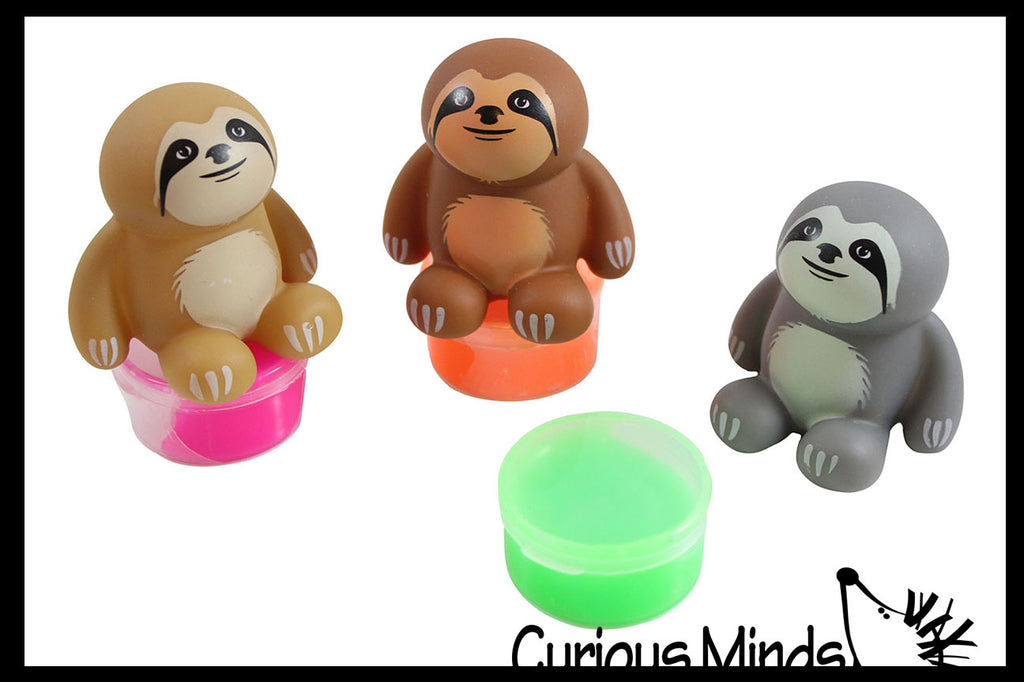 CLEARANCE - SALE - Pooping Sloth Slime Sucker -  / Putty / Slime / Ooze - OT Party Favors