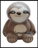 Large Sloth Squishy Slow Rise Foam Animal -  Scented Sensory, Stress, Fidget Toy