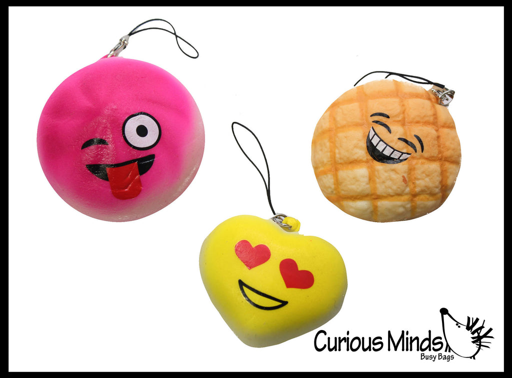 Squishy Slow Emojis -  Sensory, Stress, Fidget Toy