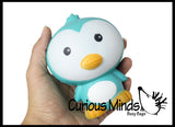 "Large 5"" Squishy Slow Rise Penguin -  Scented Sensory, Stress, Fidget Toy"