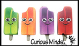 Squishy Slow Rise Popsicle with Face -  Scented Sensory, Stress, Fidget Toy