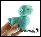 Mini Alpaca Stuffed Animal Toy - Soft Animal Plushie  Stuffie. Llama- Soft Snuggly Toy