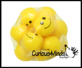 Smile Happy Face Filled Squeeze Stress Ball  -  Sensory, Fidget Toy