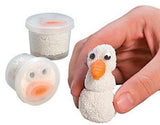 TINY Snowman Indoor Modelling Compound Dough for Sensory Play
