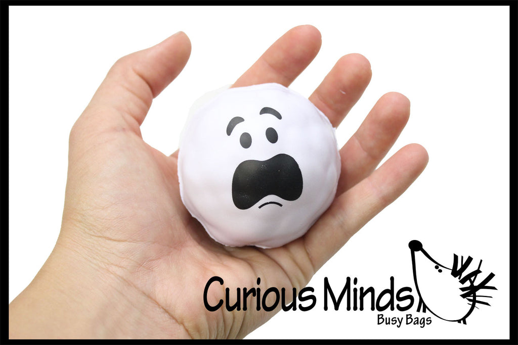 CLEARANCE - SALE - Snowball Stress Ball  -  Sensory, Stress, Fidget Toy Indoor Snowball Fight