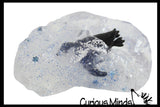 Snowglobe with Penguin Slime - Ice Snow Glitter Putty - Party Favors in Snow Globe - Winter