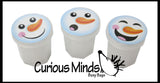 TINY White Snowman Slimes - Party Favors