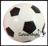 Soccer Bouncy Super Balls - Sports Team Athletic Youth Players - Cute Party Favors or Classroom Rewards