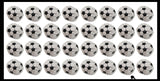 Soccer Ball Style Kick Balls - Sack Footbag Game Balls