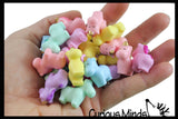 24 Cute Unicorn Figurines - Mini Toys - Soft and Squishy - Small Novelty Prize Toy - Party Favors - Gift - Bulk 2 Dozen