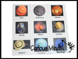 Solar System Match - Space and Planets Matching to Cards - Learning Toy