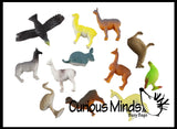 Miniature South American Animal Figurines Replicas