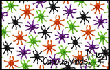 72 Halloween Spider Spinning Tops Novelty Toy - Party Favor - Trick or Treat Prize