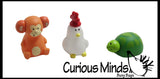 Mini Animal Popper Squeeze Toy  -  Sensory, Stress, Fidget Toy