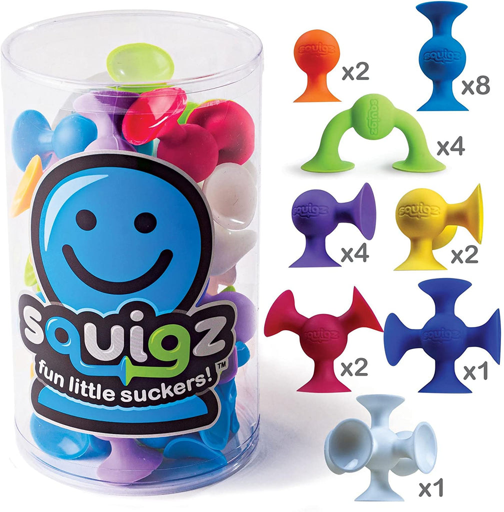 Squigz Suction Cup Toy - Water Bath Fine Motor Toy - Free Play Building Toy - OT