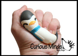 Squishy Winter Penguin - Slow Rise Squish Foam Toy - Holiday Christmas Stress Fidget Toy