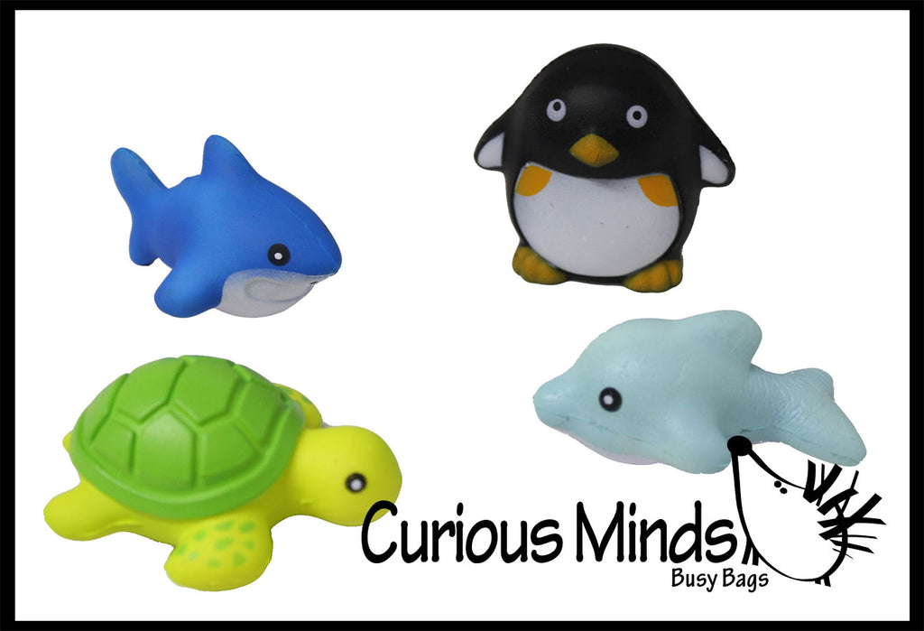 Mini Cute Sea Animal Squishy Slow Rise -  Sensory, Stress, Fidget Toy
