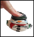Squishy Snowman - Slow Rise Squish Foam Toy - Winter Holiday Christmas Stress Fidget Toy