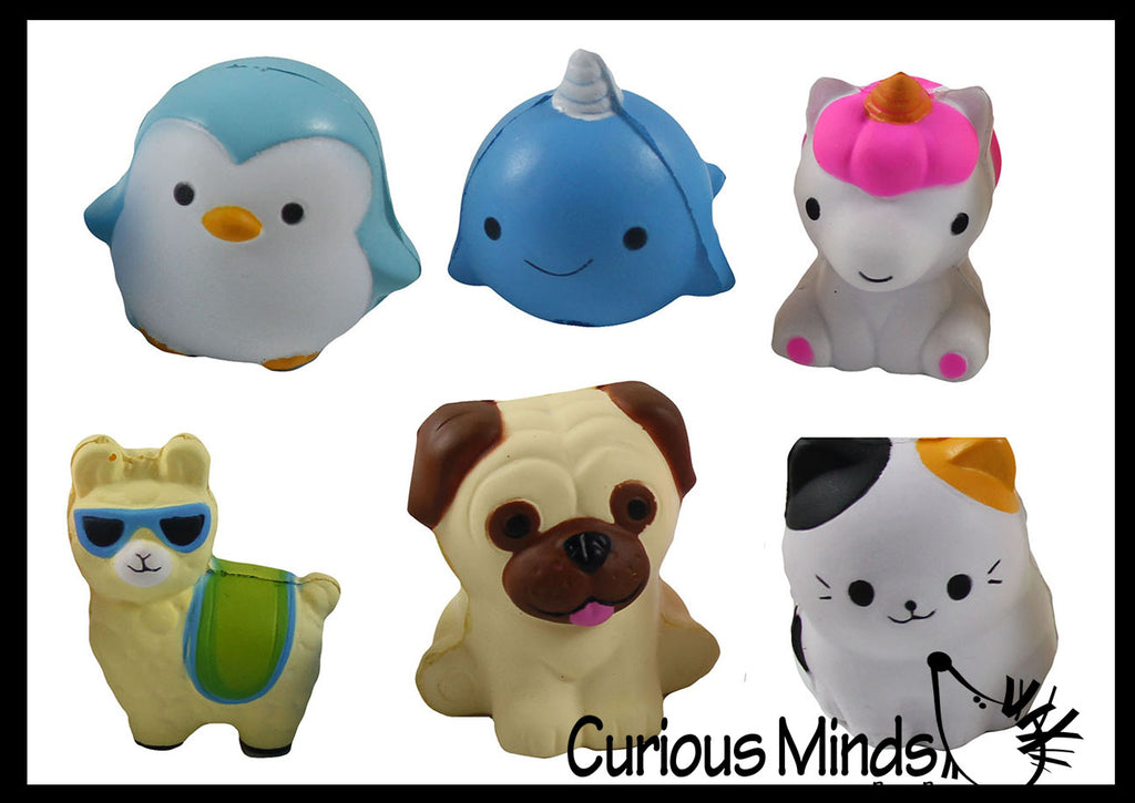 Slow Rise Animal Pencil Topper Squishies - Soft Scented Cute - Office School