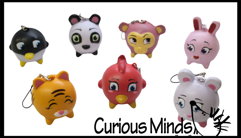 Mystery Animal Squishy Slow Rise with Clip  -  Sensory, Stress, Fidget Toy