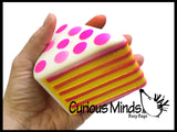 Squishy Slow Rise Cake -  Large Sensory, Stress, Fidget Toy Slo Rising