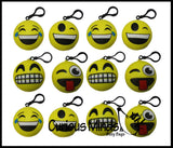 Squishy Slow Rise Emoji Face Clip -  Large Sensory, Stress, Fidget Toy Slo Rising