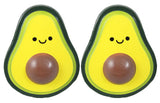Small Avocado Squishy Cute with Face - Slow Rise Foam Food Fruit - Sensory, Stress, Fidget Toy