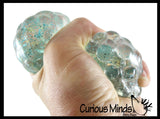 Smaller Star Confetti Water Bead Mold-able Stress Ball - Squishy Gooey Shape-able Squish Sensory Squeeze Balls
