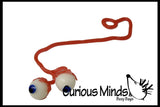 Sticky Eyeballs on Strings - Toys for Ophthalmologists Optometrists Doctors and Nurses