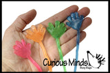 Sticky Hands - Mini Glitter for Party Favors, Goodie Bags, Treasure Chests or Halloween Prizes