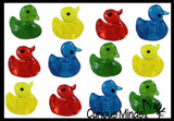 Tiny Sticky Duck Toys  - Small Toys for Easter Egg Hunt - Easter Basket - Party Favor - Novelty Sticky Balls