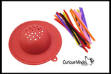 Pipe Cleaners and Strainer Busy Bag - Fine Motor
