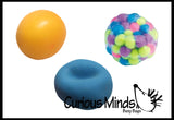 Stress Ball Bundle #4 - Fidget Set for Students, Adults and Children