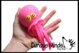 Octopus Jellyfish Bath and Pool Toy Water Bomb Soaker - Stress Ball - Wiggly Jiggly Squishy Fidget Ball