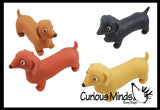 Stretchy Weiner Dog Crushed Bead Sand Filled - Doggy Lover Sensory Fidget Toy Weighted