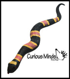 "12"" Stretchy Snakes Crushed Bead Filled- Reptile Sensory Fidget Toy"