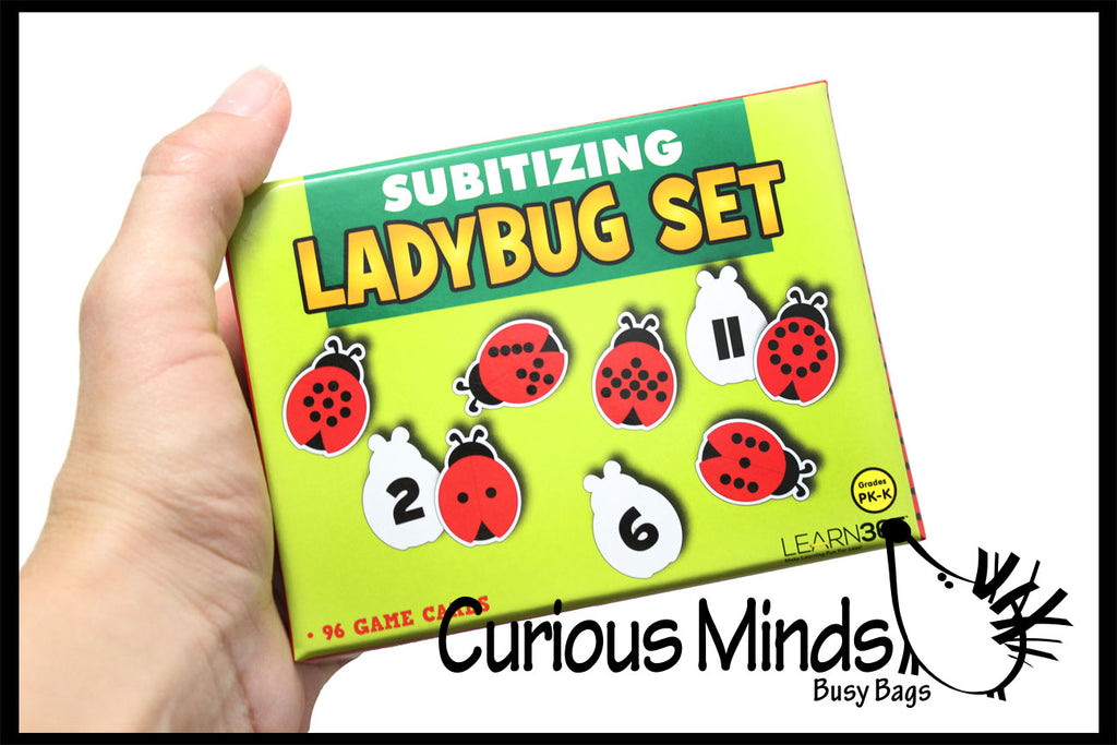 CLEARANCE SALE - Ladybug Number Subsidizing  Puzzle - Counting Activity - One -to - One correspondence