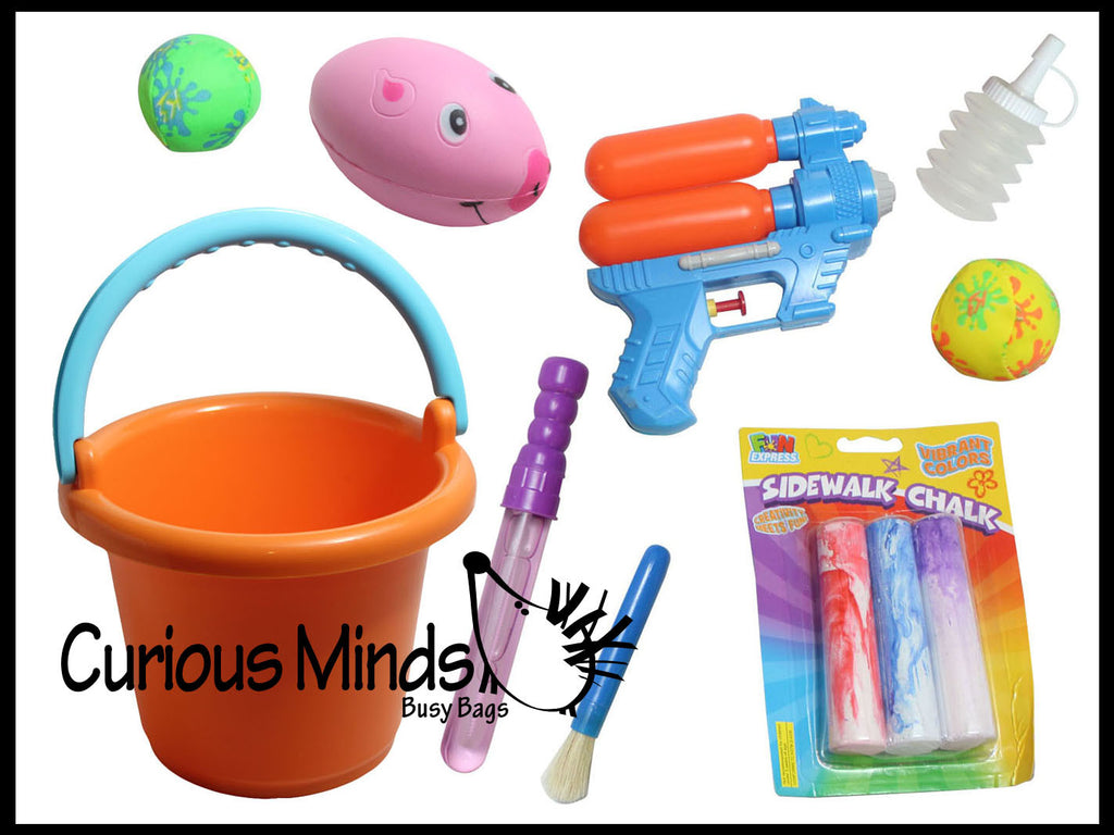 Summer Fun Bucket - Outdoor Summer Toys and Activity Guide