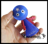 Large Super Hero Popper Guy - Pop Up Toy - Jumping  Popper Spring Launcher Toys - Cute Bouncy Party Favors