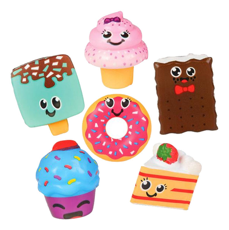 Cute Sweet Treats Food Snacks Squishy Slow Rise Foam Characters -  Ice Cream, Donut, Cupcake, Cake and Ice Cream Sandwich Scented Sensory, Stress, Fidget Toy