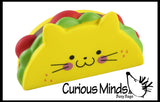 Taco Cat Squishy Slow Rise Foam Junk Food -  Scented Sensory, Stress, Fidget Toy