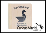 SALE - Mini Wooden Tangram Set - Travel Game