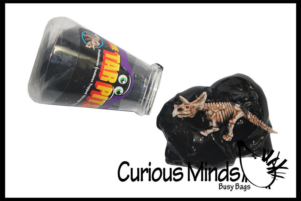 CLEARANCE - SALE - Tar Pits Dinosaur Skeleton Slime - Putty / Slime