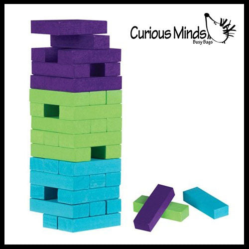 CLEARANCE - SALE - MINI Wood Topple Towers Game Blocks